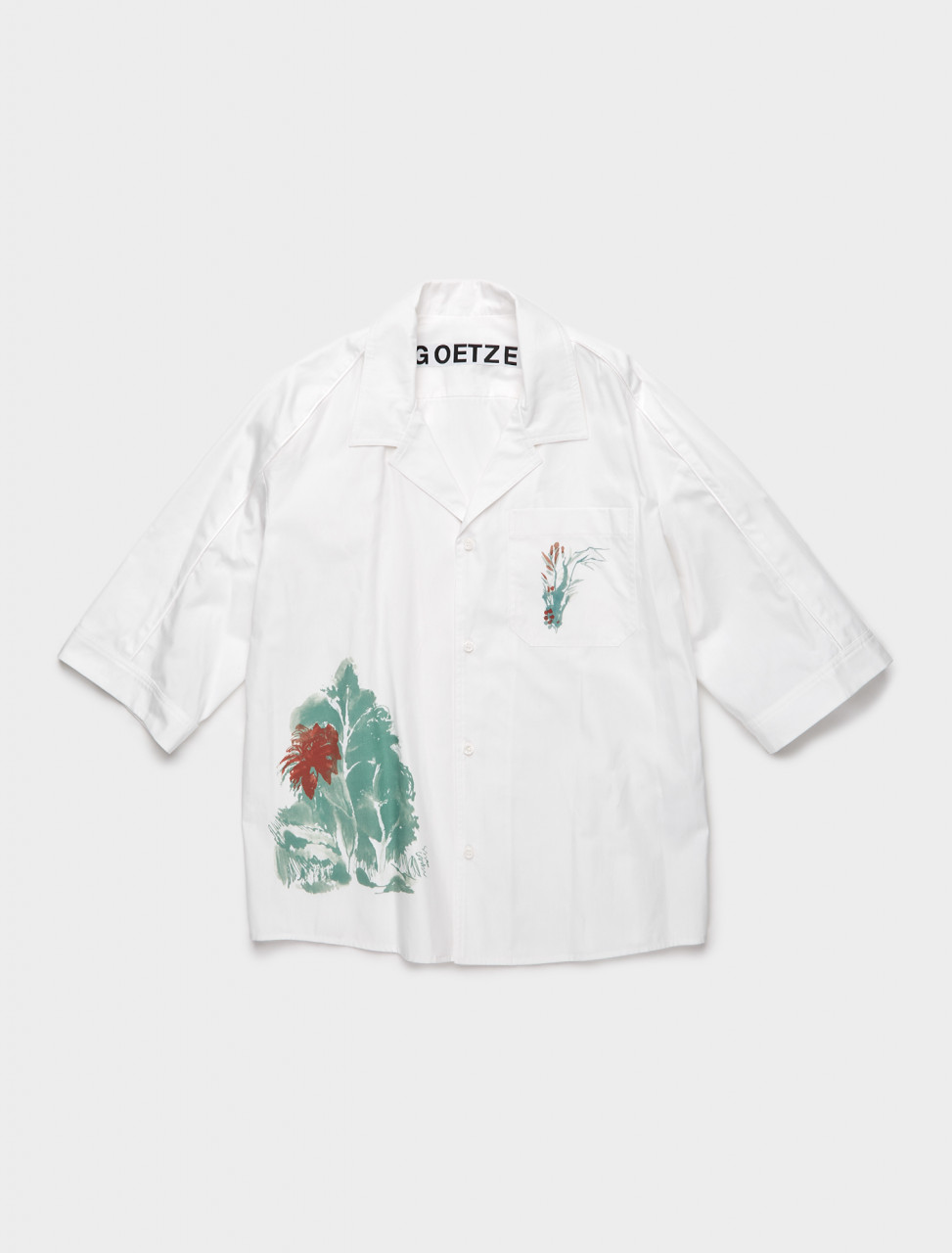 TED04 GOETZE TED PRINTED SHIRT WHITE TREE PRINT