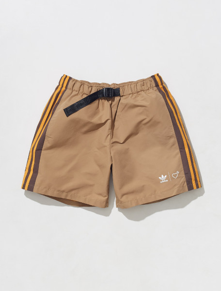 HB0000 ADIDAS HUMAN MADE WINDSHORT IN BROWN