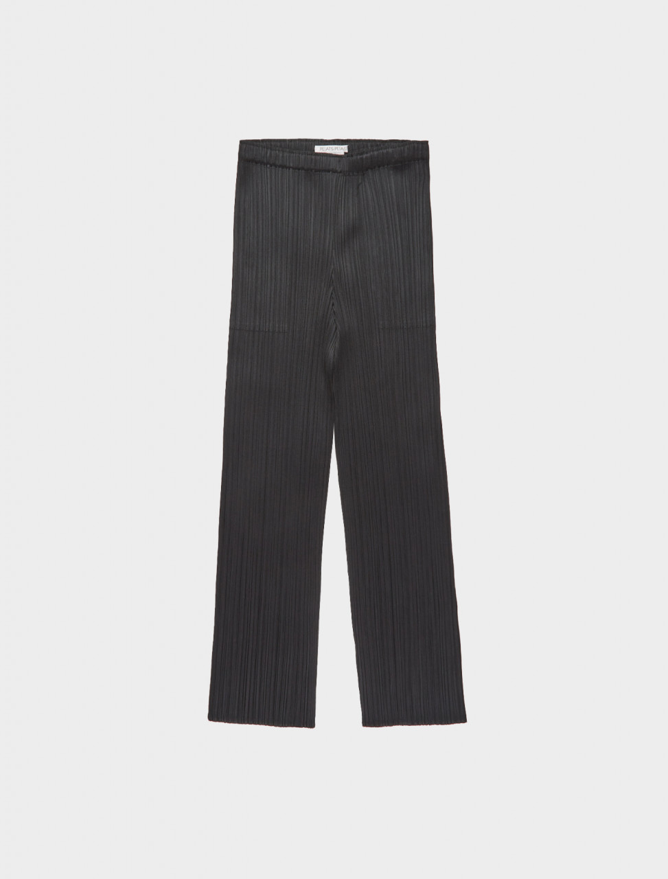 286-PP08JF111-15 ISSEY MIYAKE PLEATS PLEASE TAPERED CROPPED TROUSERS BLACK