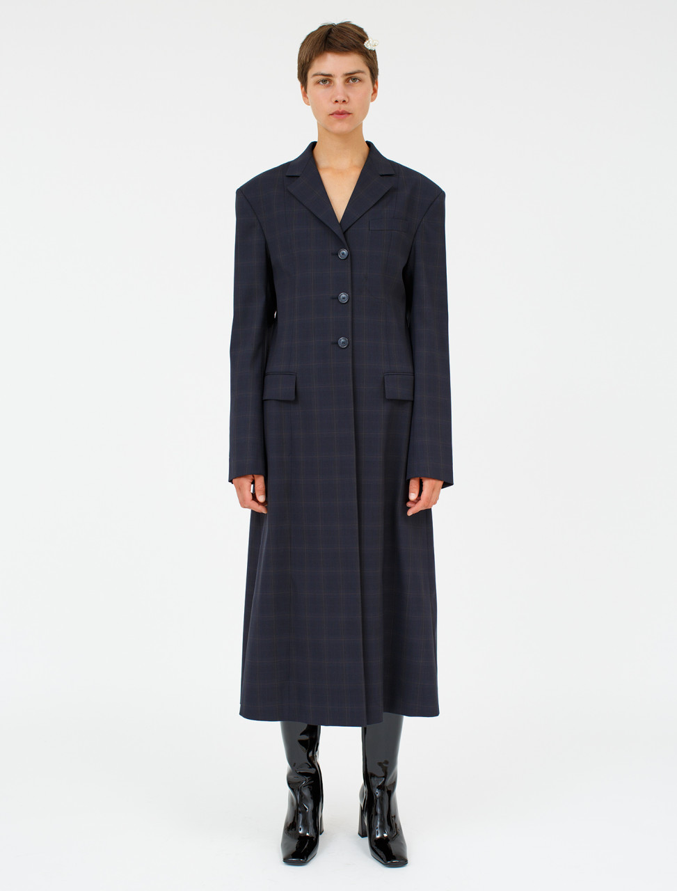 Blue Check Coat