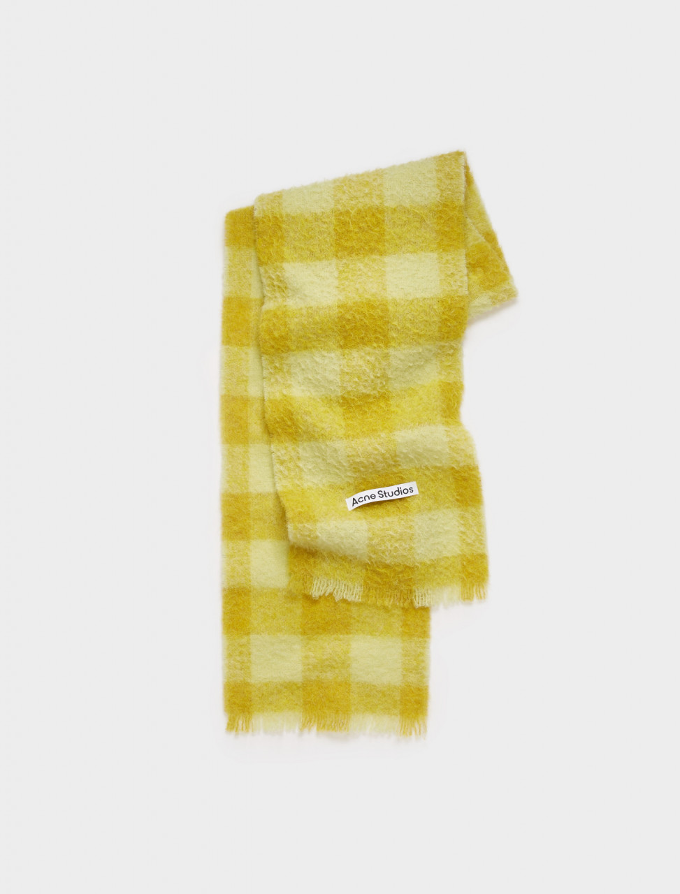 110-CA0092-BSS ACNE STUDIOS CHECKED SCARF YELLOW