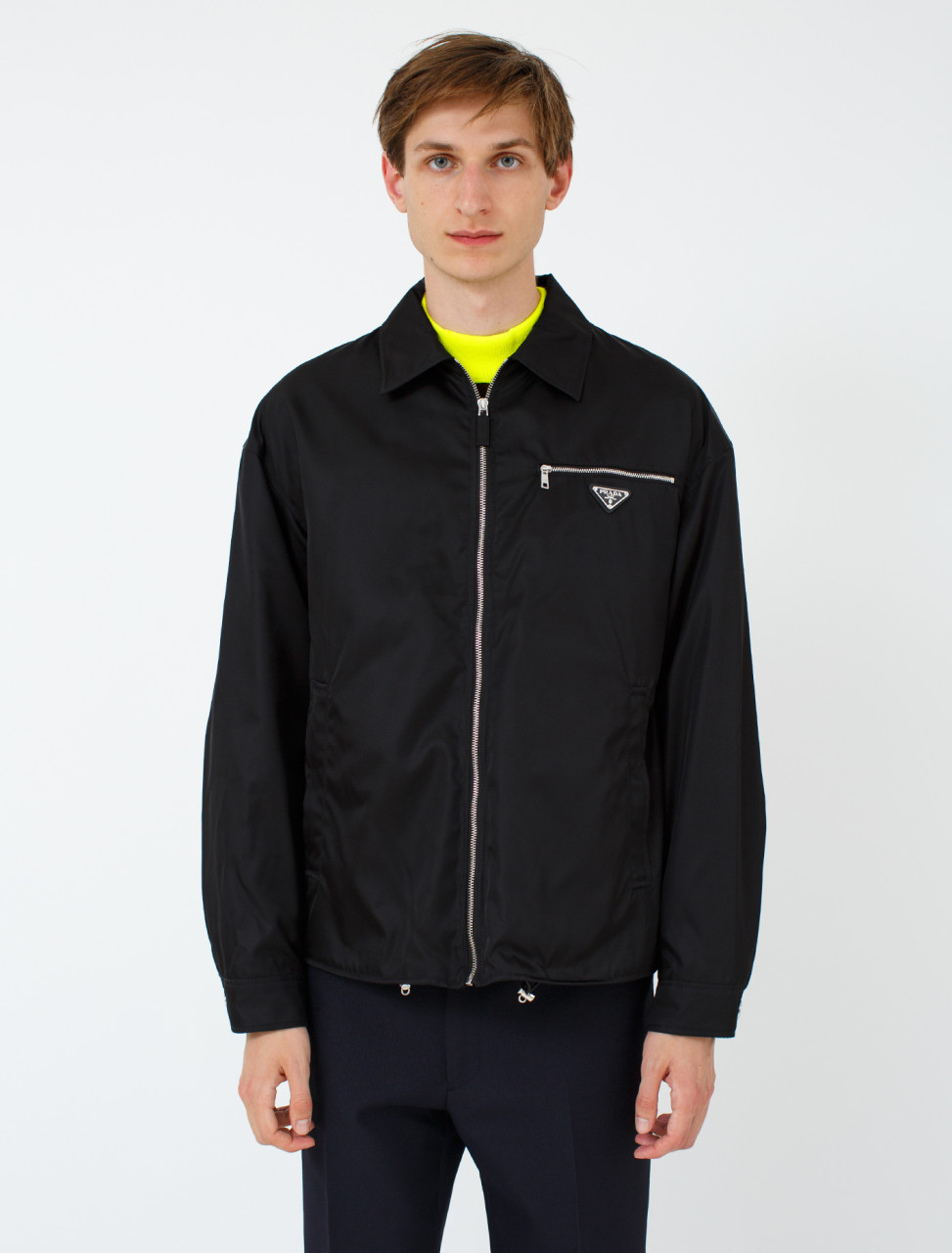 Nylon Gabardine Chest Pocket Jacket