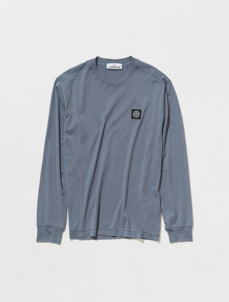 Long Sleeve T-Shirt in Mid Blue