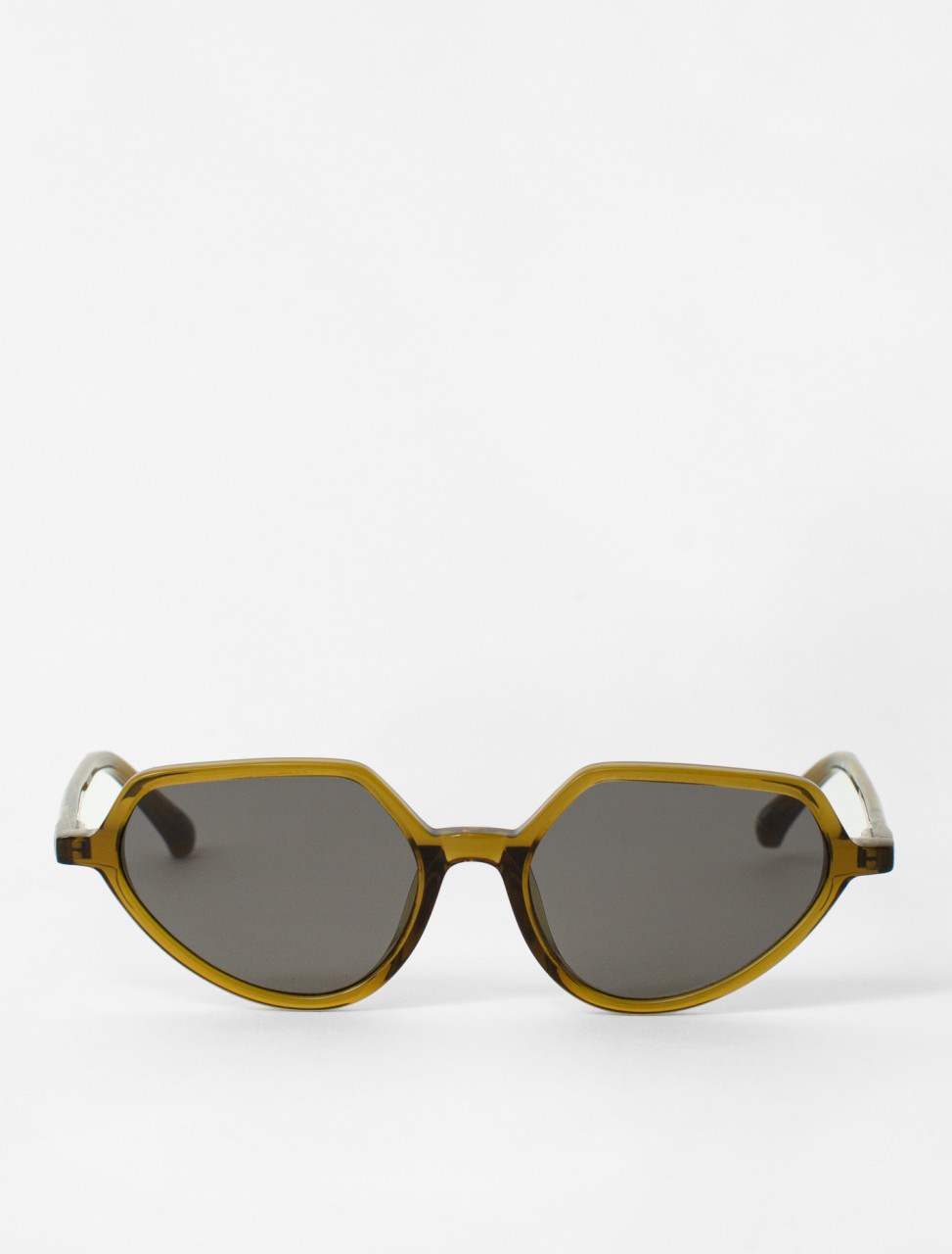 Cat-Eye Sunglasses in Olive Green