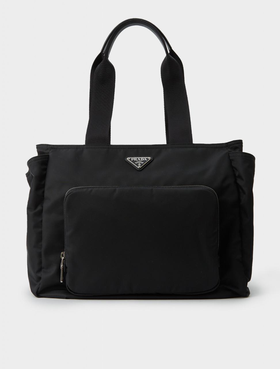 Prada Nylon Shopping Bag in Black