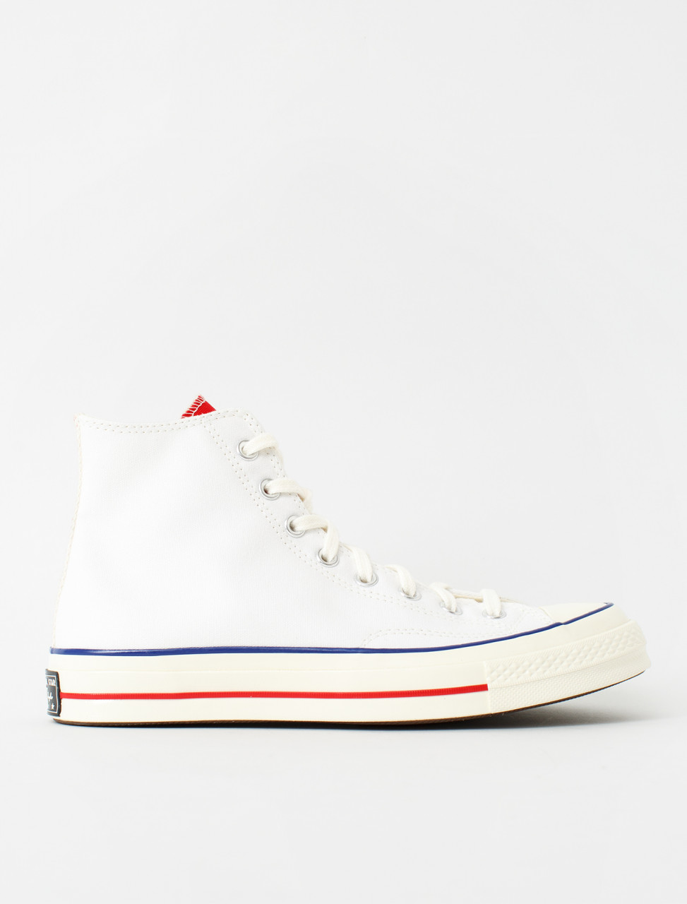 Chuck 70 High Sneaker in White & University Red
