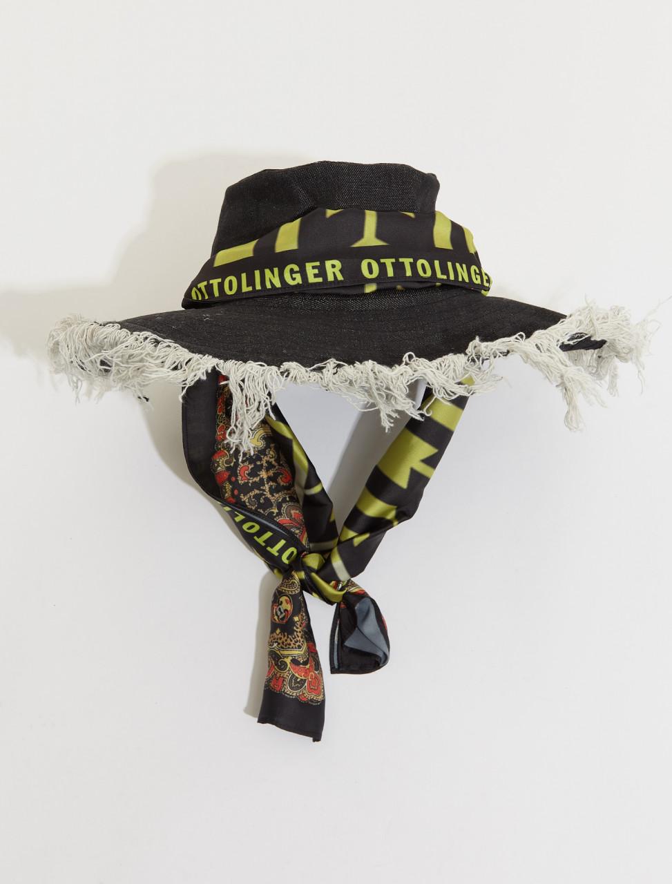 SS21AC08B OTTOLINGER DENIM HAT IN BLACK