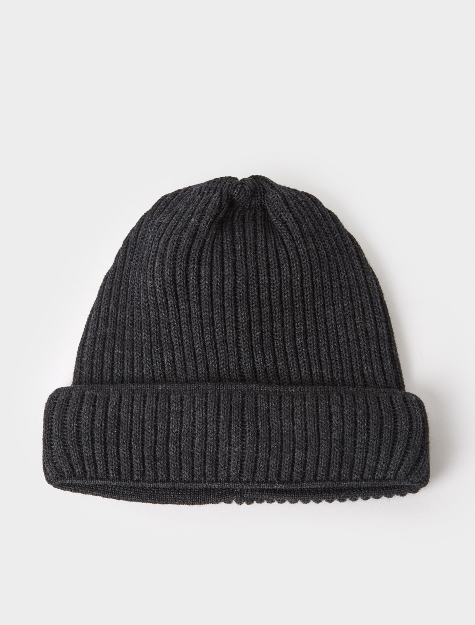 333500 ALASKA RIBBED KNIT BEANIE ANTHRACITE