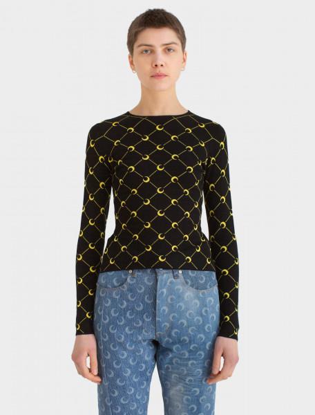 Crewneck Jacquard Sweater