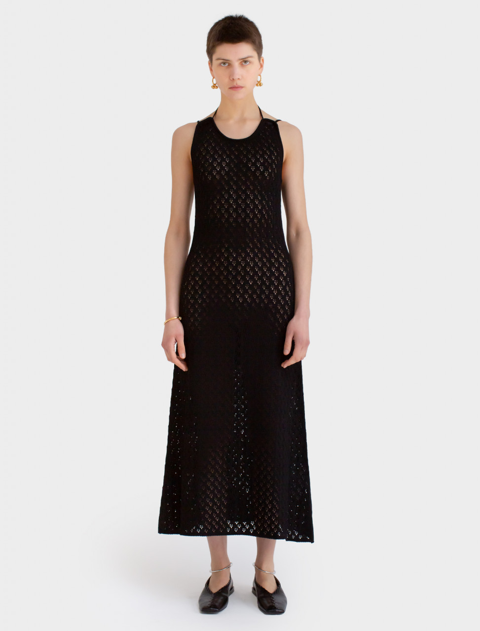 Knitted Dress in Black
