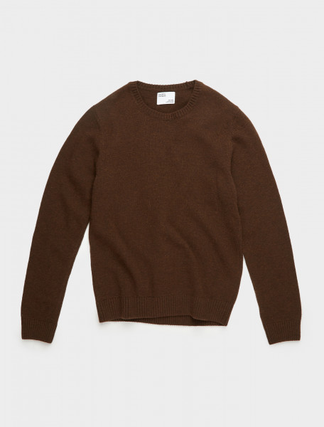 307-CS5083-CB COLORFUL STANDARD MERINO WOOL CREW COFFEE BROWN