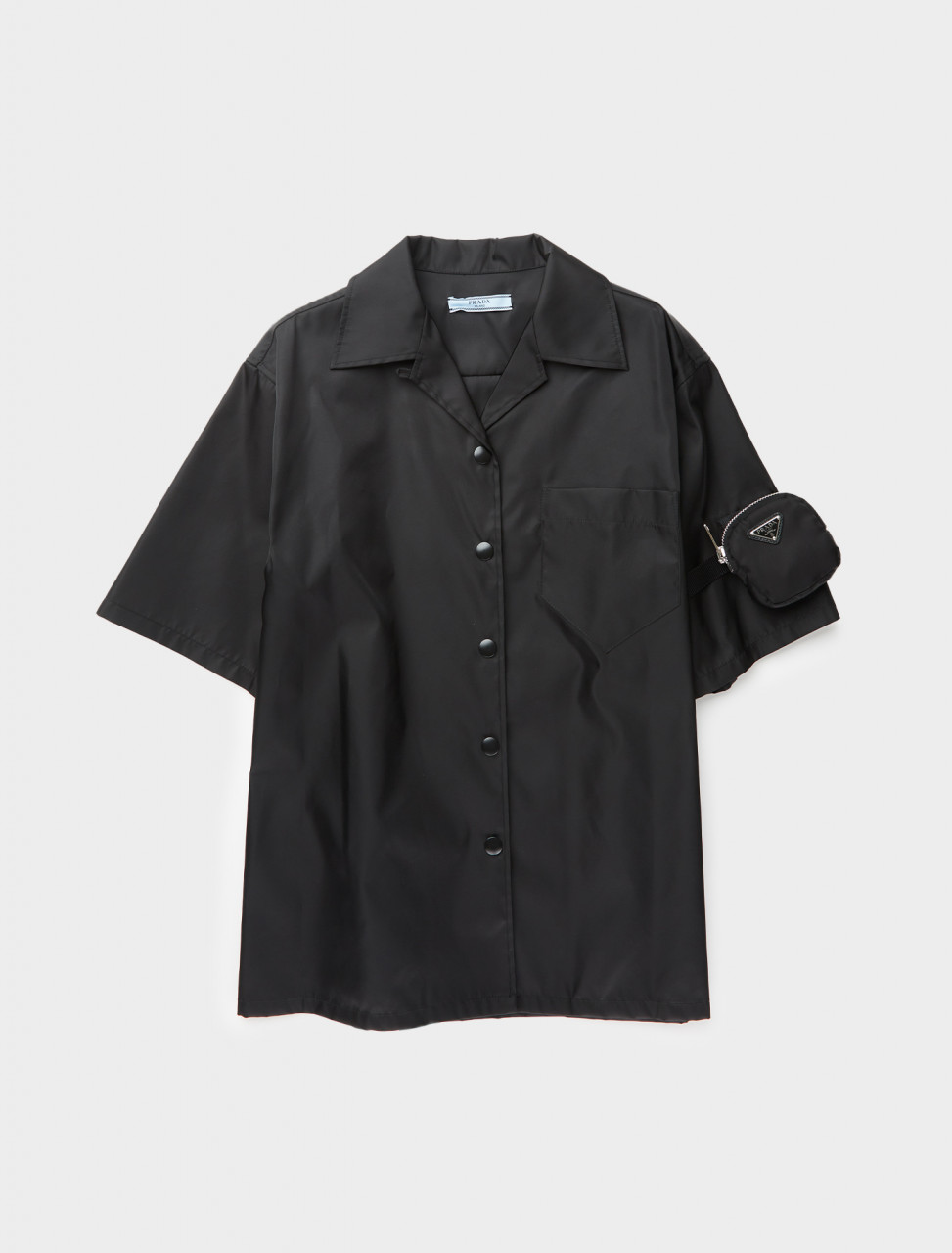 242-240683-1WQ8-F0002-S-201 PRADA RE-NYLON SHORT SLEEVE SHIRT WITH POUCH