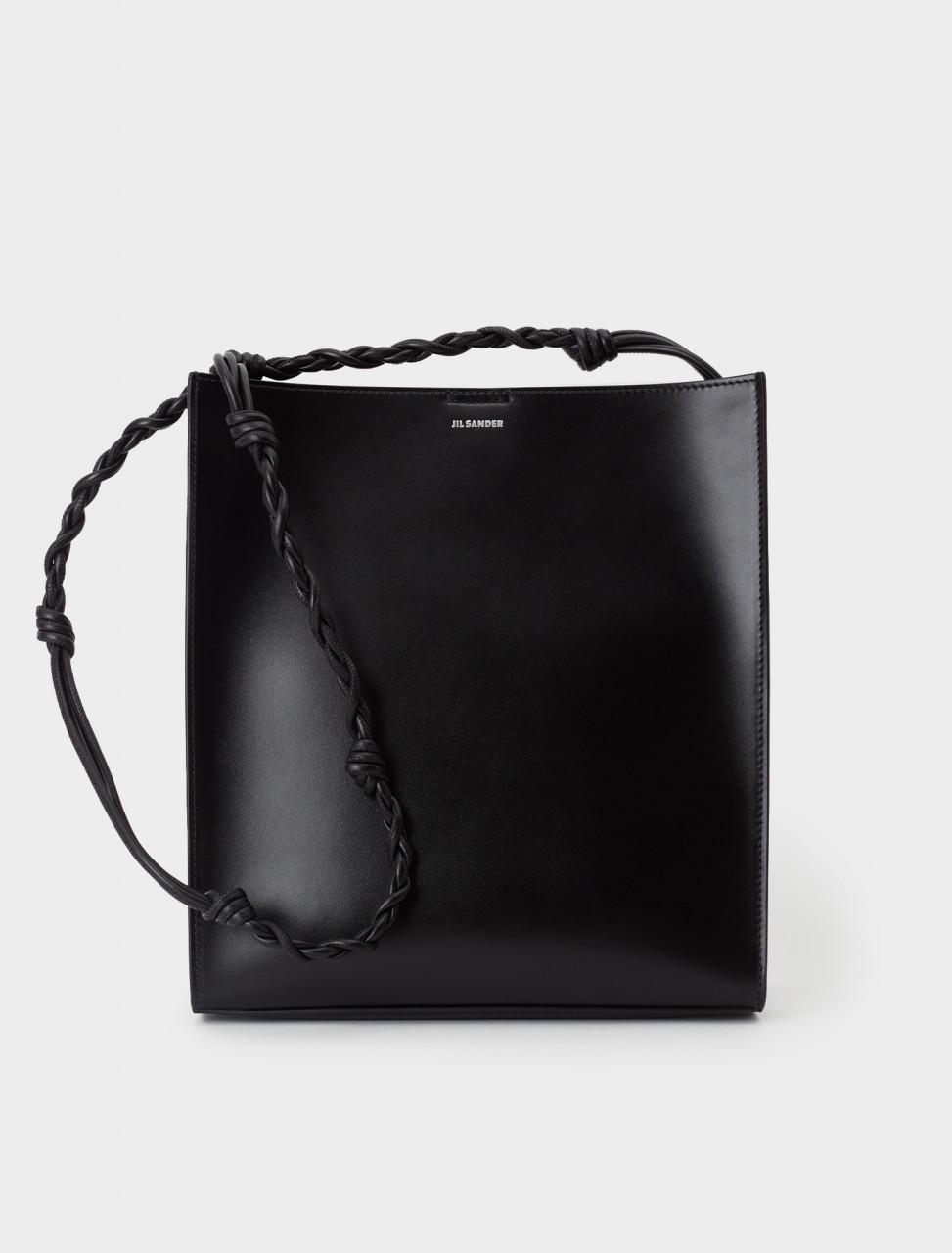 130-JSPR853172-WRB69146N-001 Jil Sander Tangle Medium Bag in Black