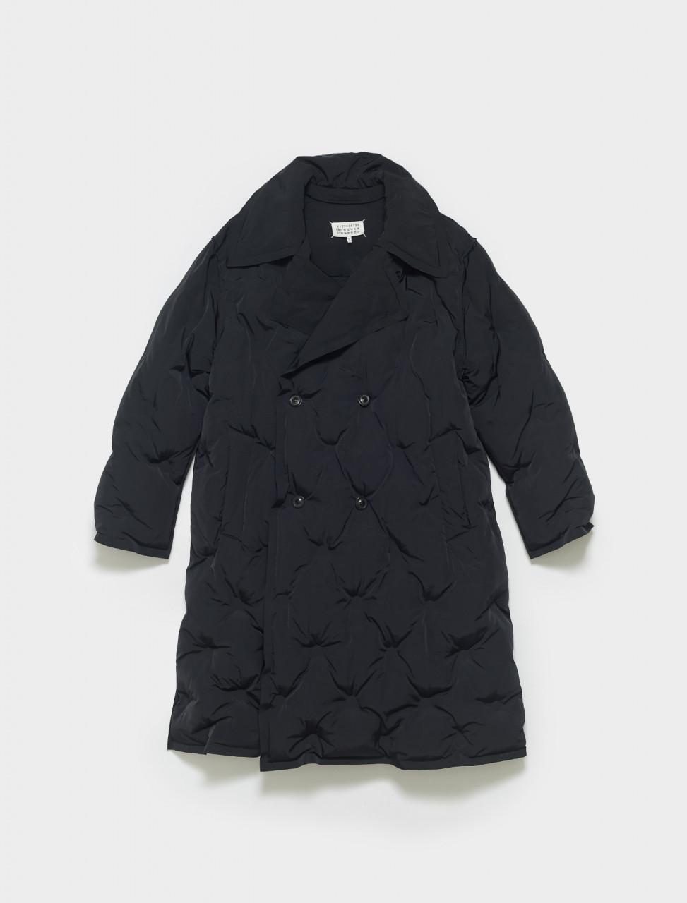 S67AH0002-T079-S52429-900 MAISON MARGIELA NYLON TRENCH COAT IN BLACK
