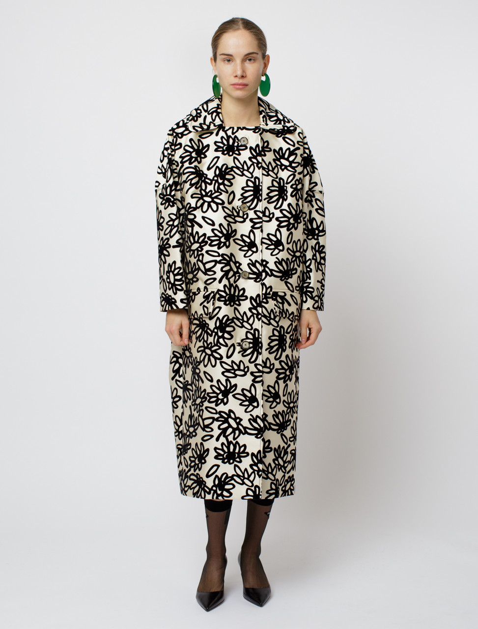 Marni Mikado Petal Print Coat