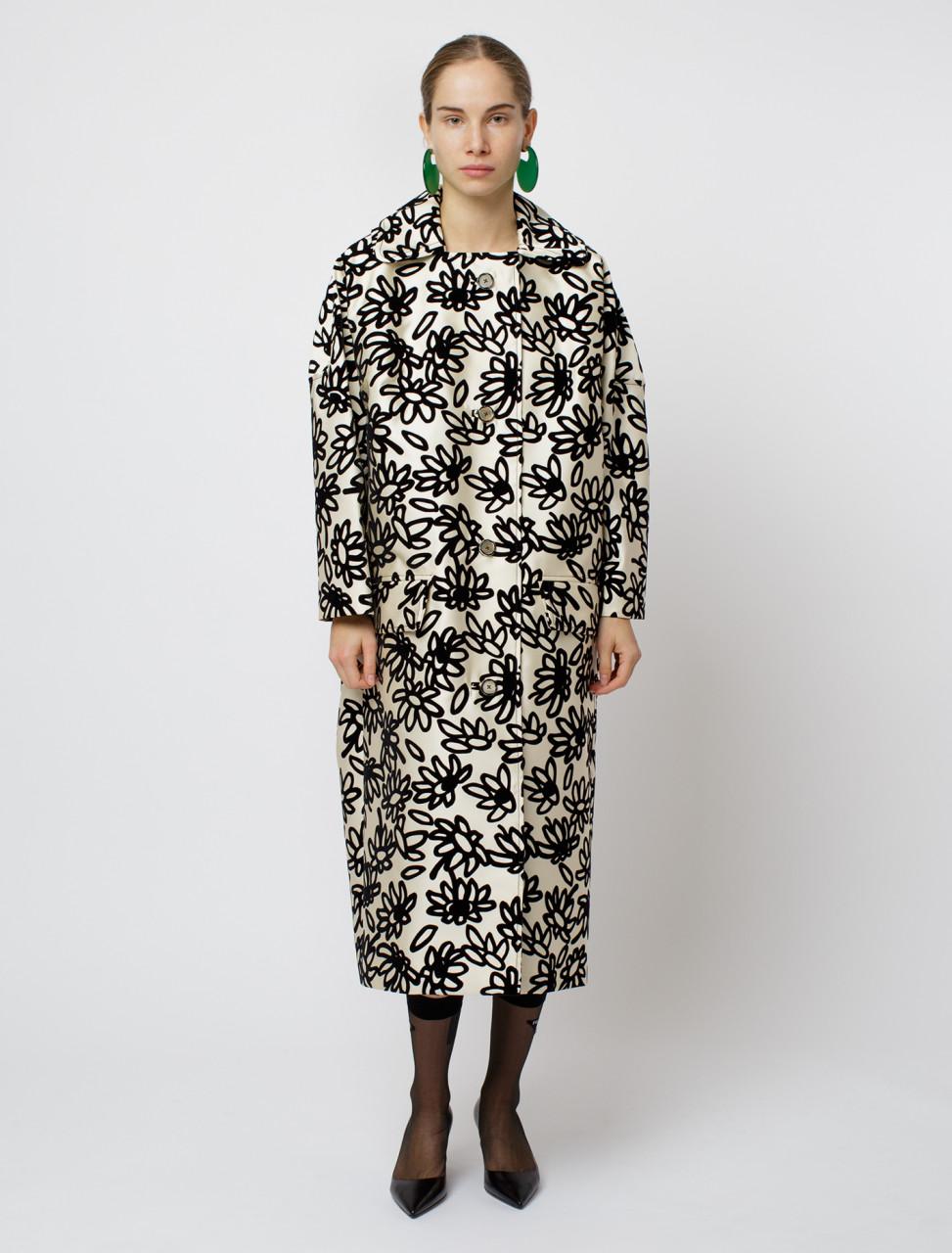 Mikado Petal Print Coat