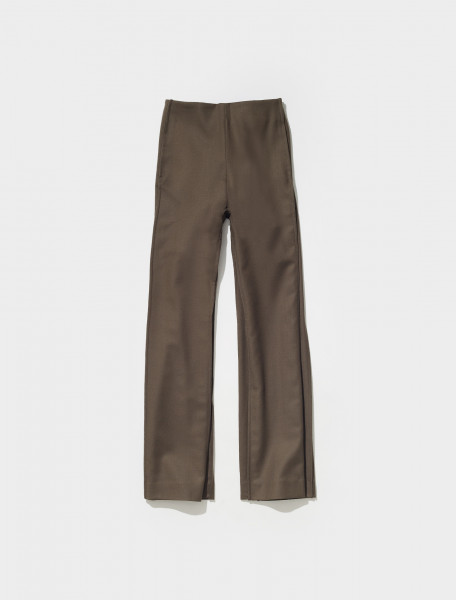 AK0409 AA5 FN WN TROU000663 ACNE STUDIOS PALESTRA FLUID SUIT TROUSERS IN TAUPE GREY