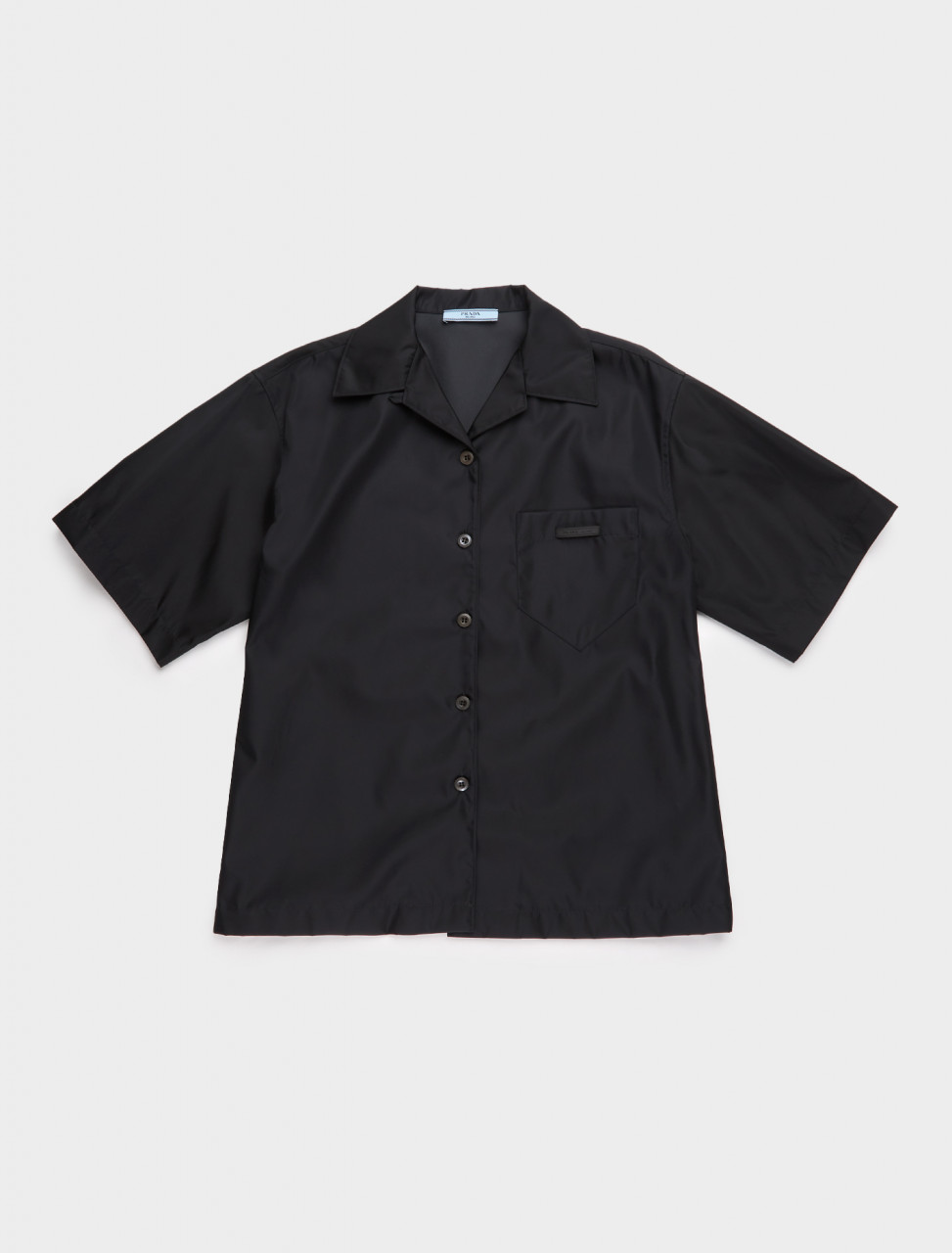 240691-F0002 PRADA RE NYLON SHIRT BLACK