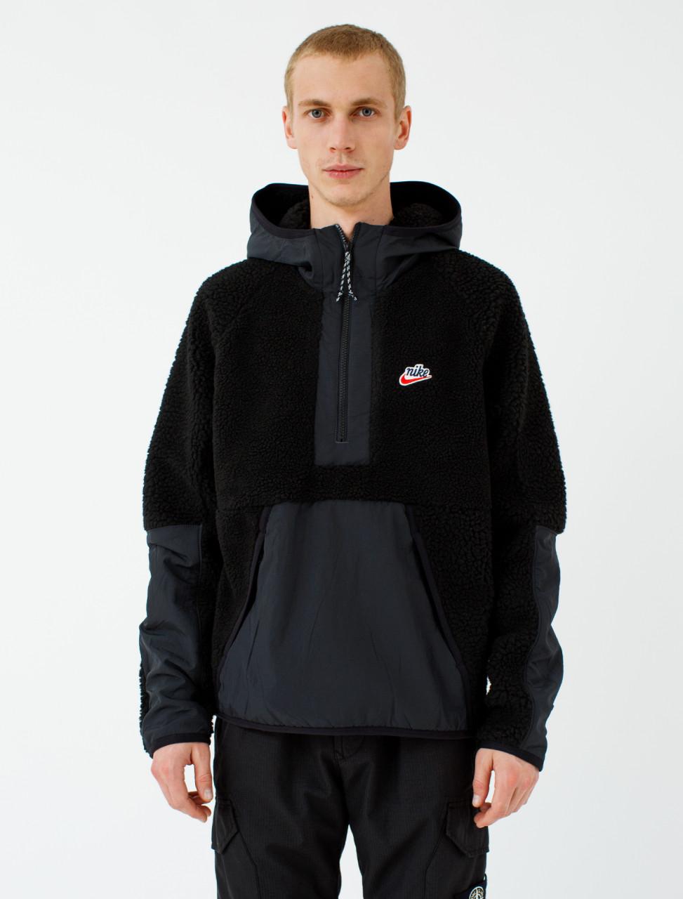 Half-Zip Long Sleeve Fleece Hoodie