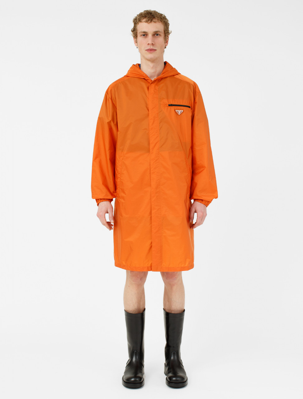 Nylon Raincoat with Backpack Compartment