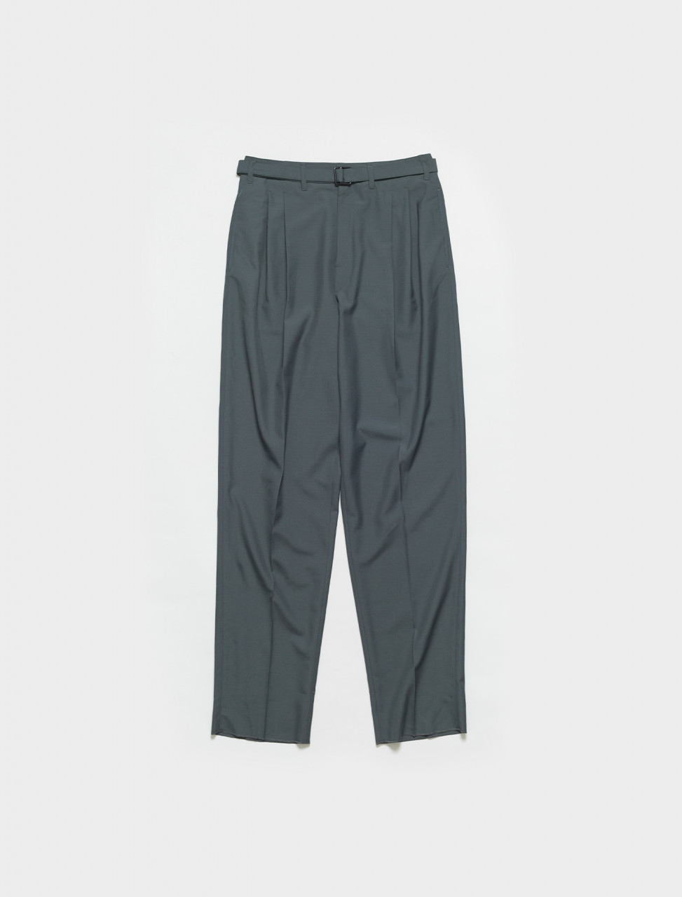 M-211-PA151-LF414-935 LEMAIRE BELTED PLEAT PANTS IN IRON GREY