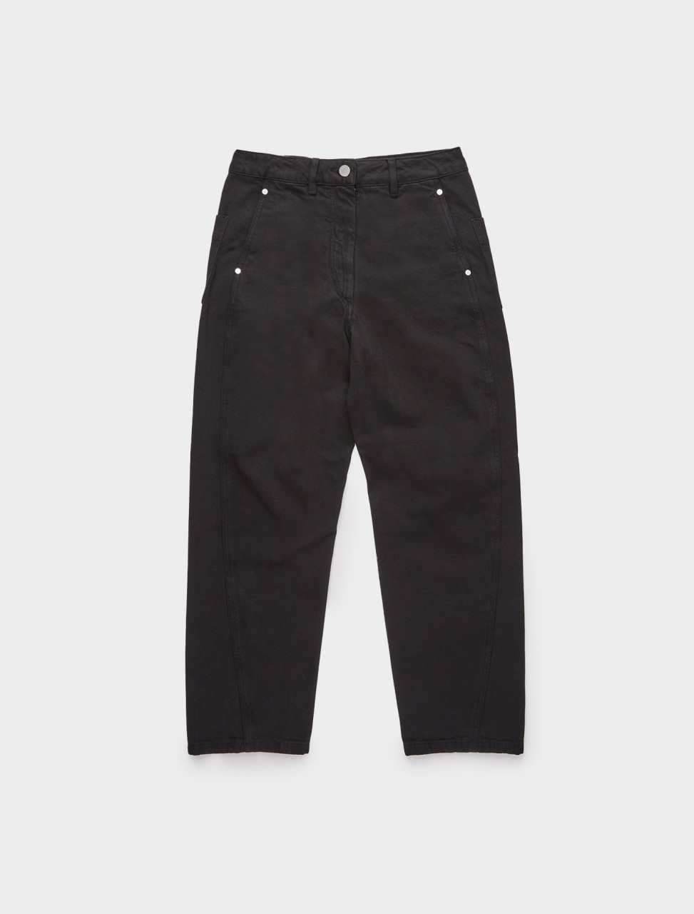 218-W-203-PA220-LD034-999 LEMAIRE TWISTED TROUSERS BLACK