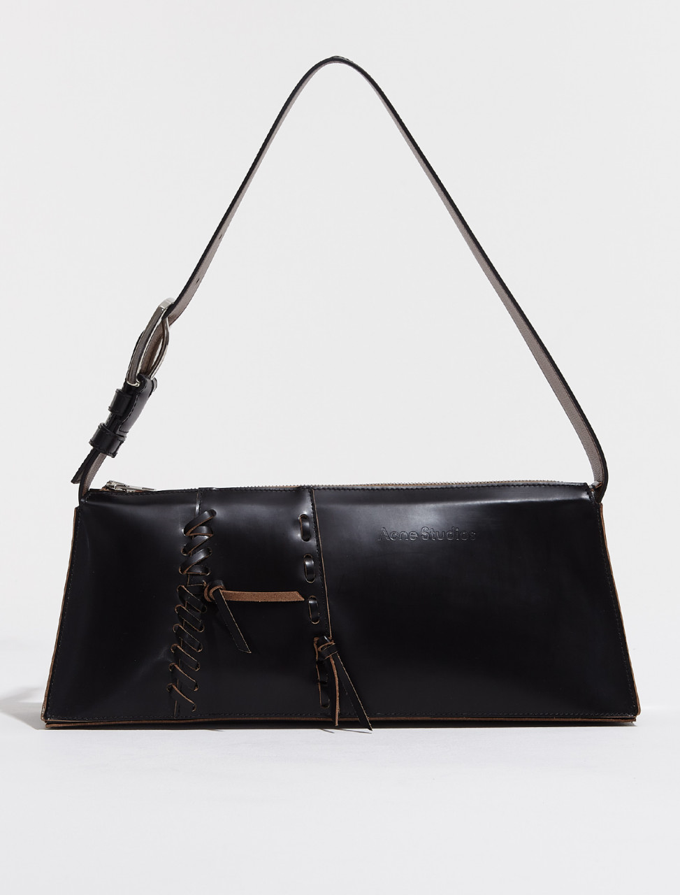 A10160 900 FN WN BAGS000174 ACNE STUDIOS SMALL HANDBAG WITH LACE DETAIL IN BLACK
