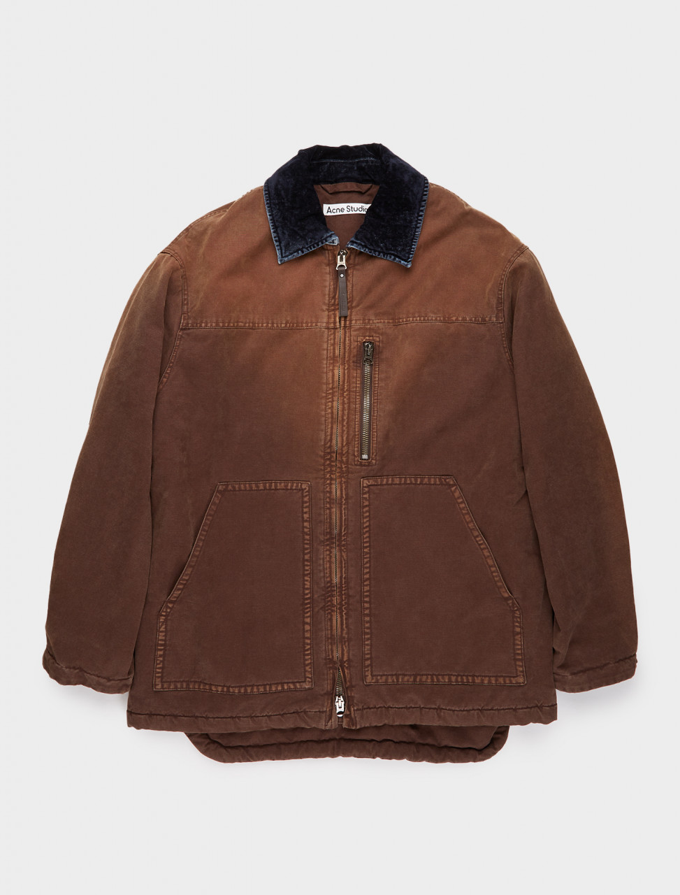 110-B90439-CA8 ACNE STUDIOS Stonewashed Canvas Jacket in Cacao Brown