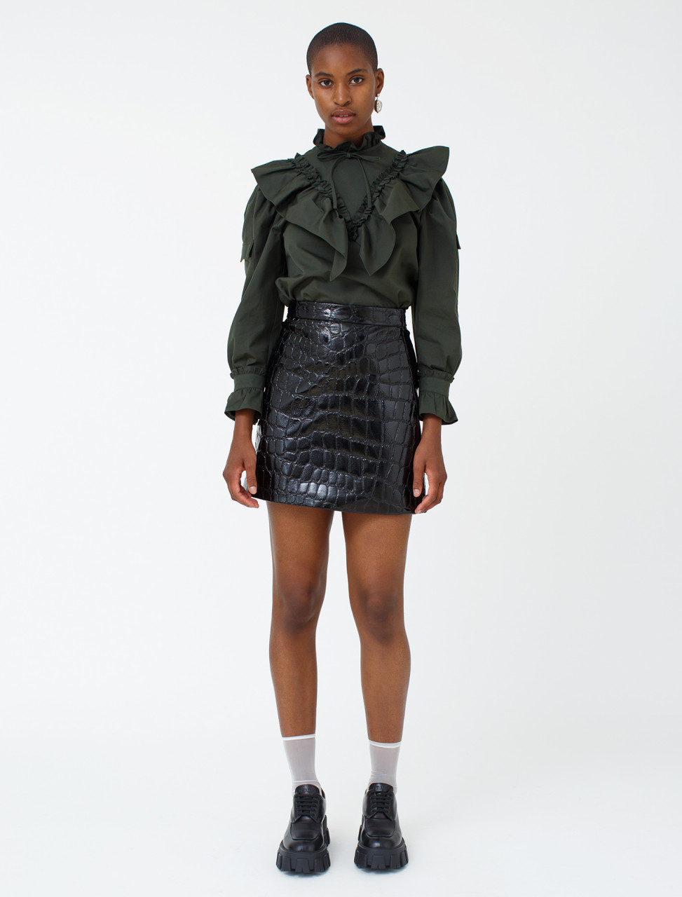Ciré Skirt in Crocodile Print