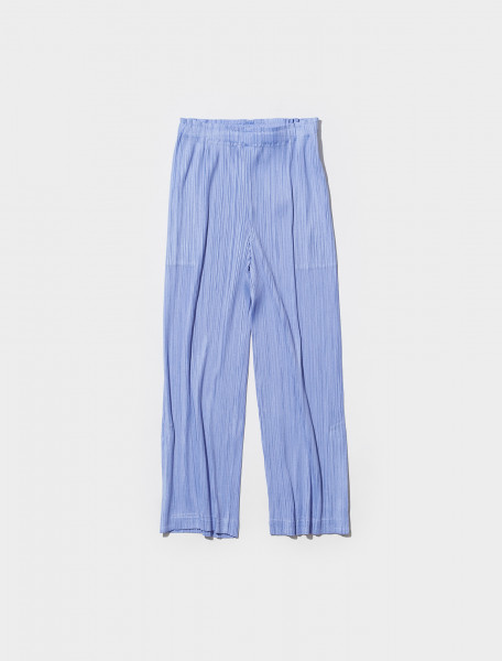 PP18JF144 79 PLEATS PLEASE ISSEY MIYAKE PLEATED TROUSERS IN LILAC BLUE
