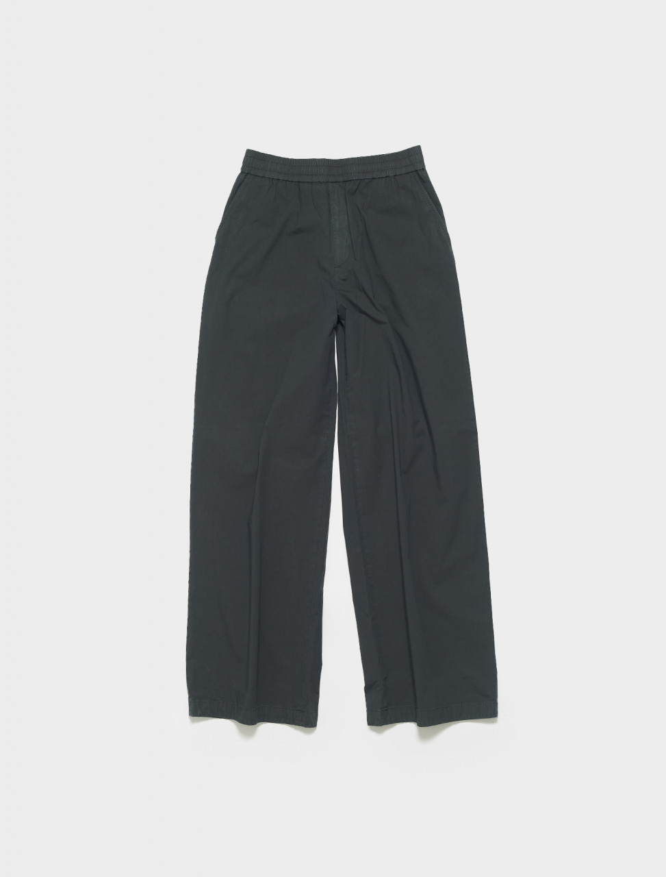 BK0380-AA2 ACNE STUDIOS PASCAL WIDE LEG TROUSERS IN ANTHRACITE GREY