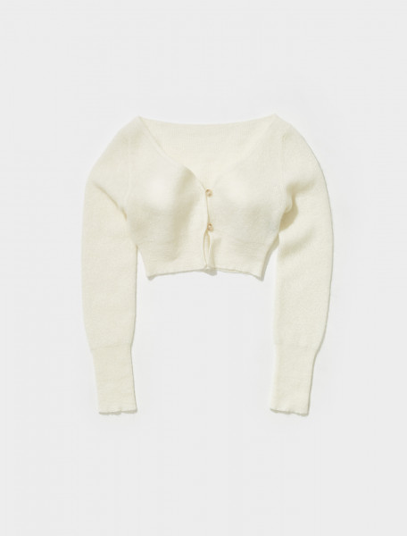 213KN23 213 236120 JACQUEMUS LE CARDIGAN ALZOU IN OFF WHITE