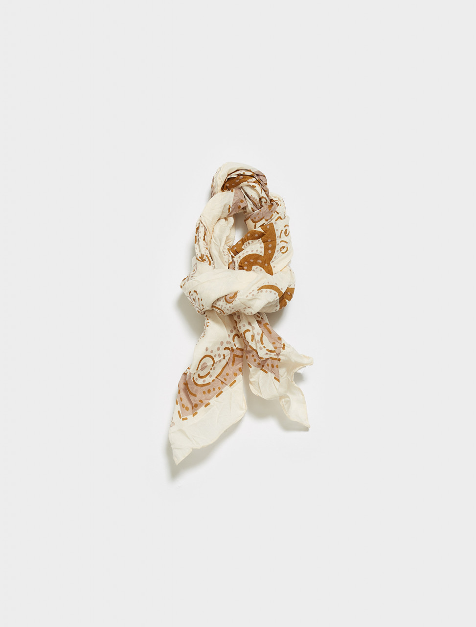 CA0121-AF4 ACNE STUDIOS VETTE SCARF IN BEIGE BROWN