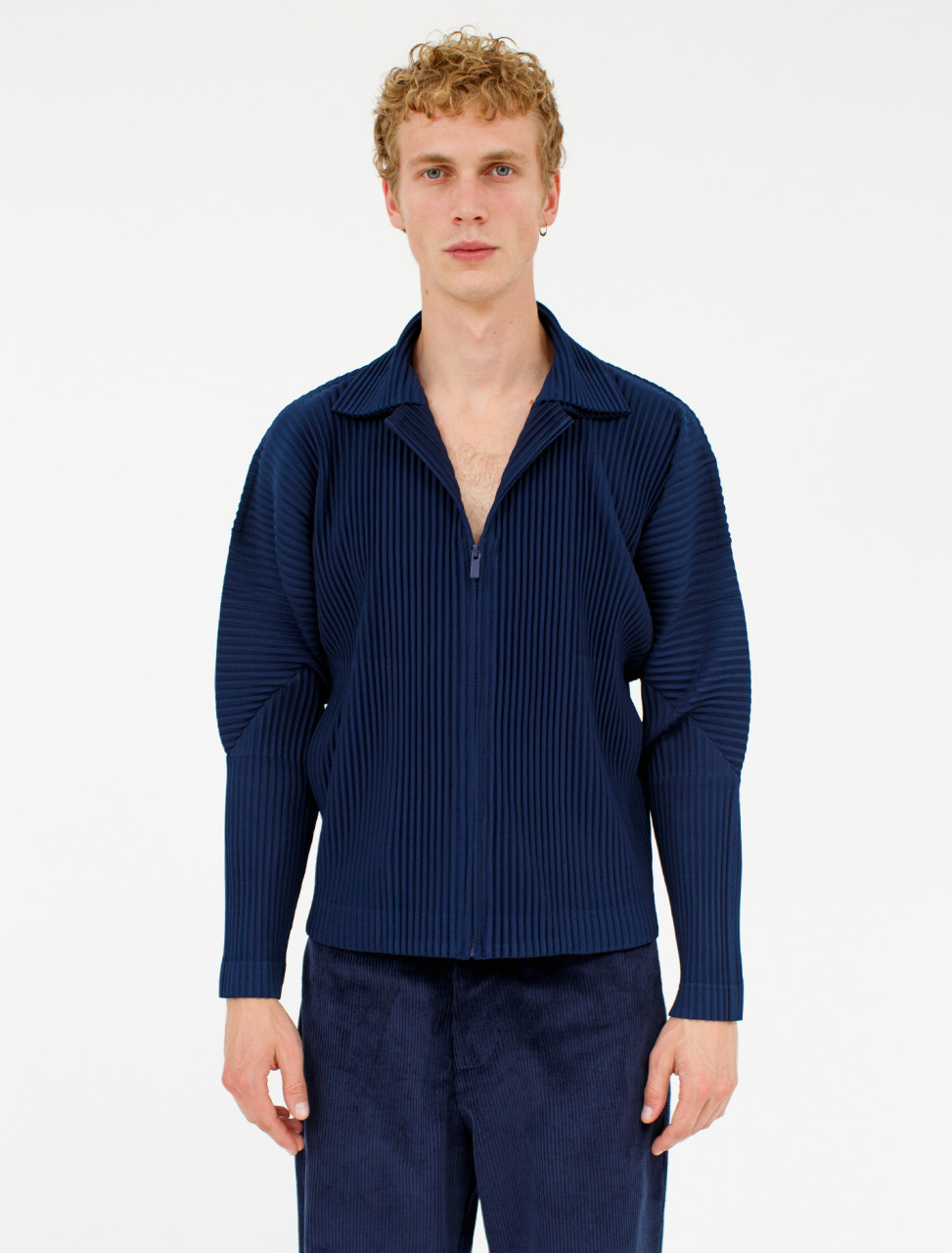 Pleated Blouson