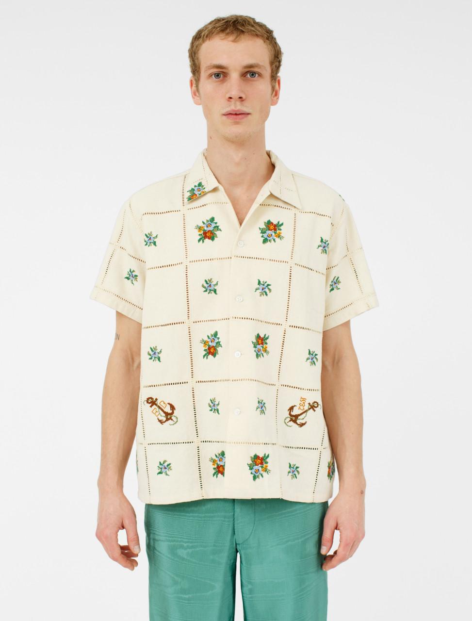 Floral Patch Bowling Shirt