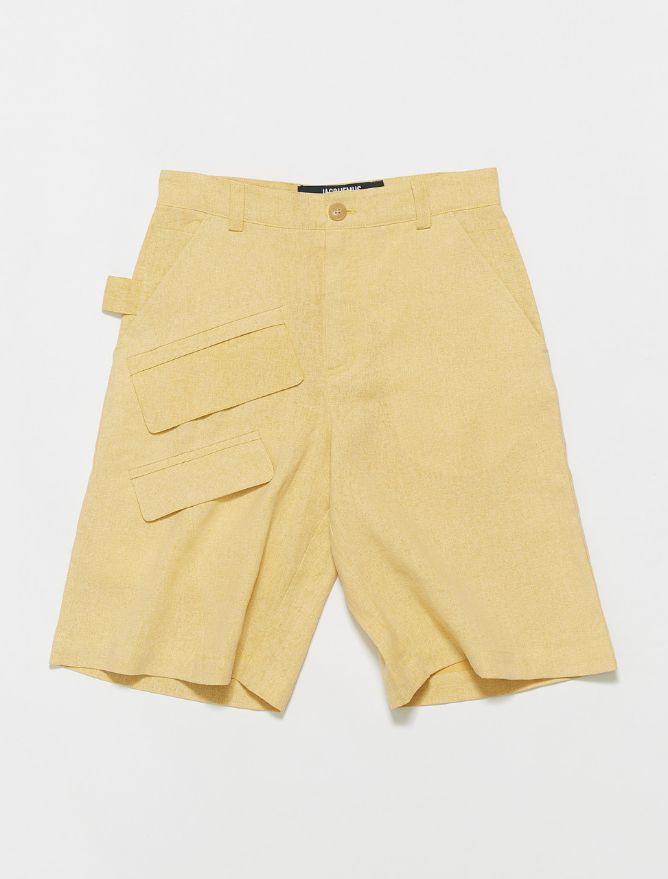 215PA10-215-104230 JACQUEMUS LE SHORT COLZA YELLOW