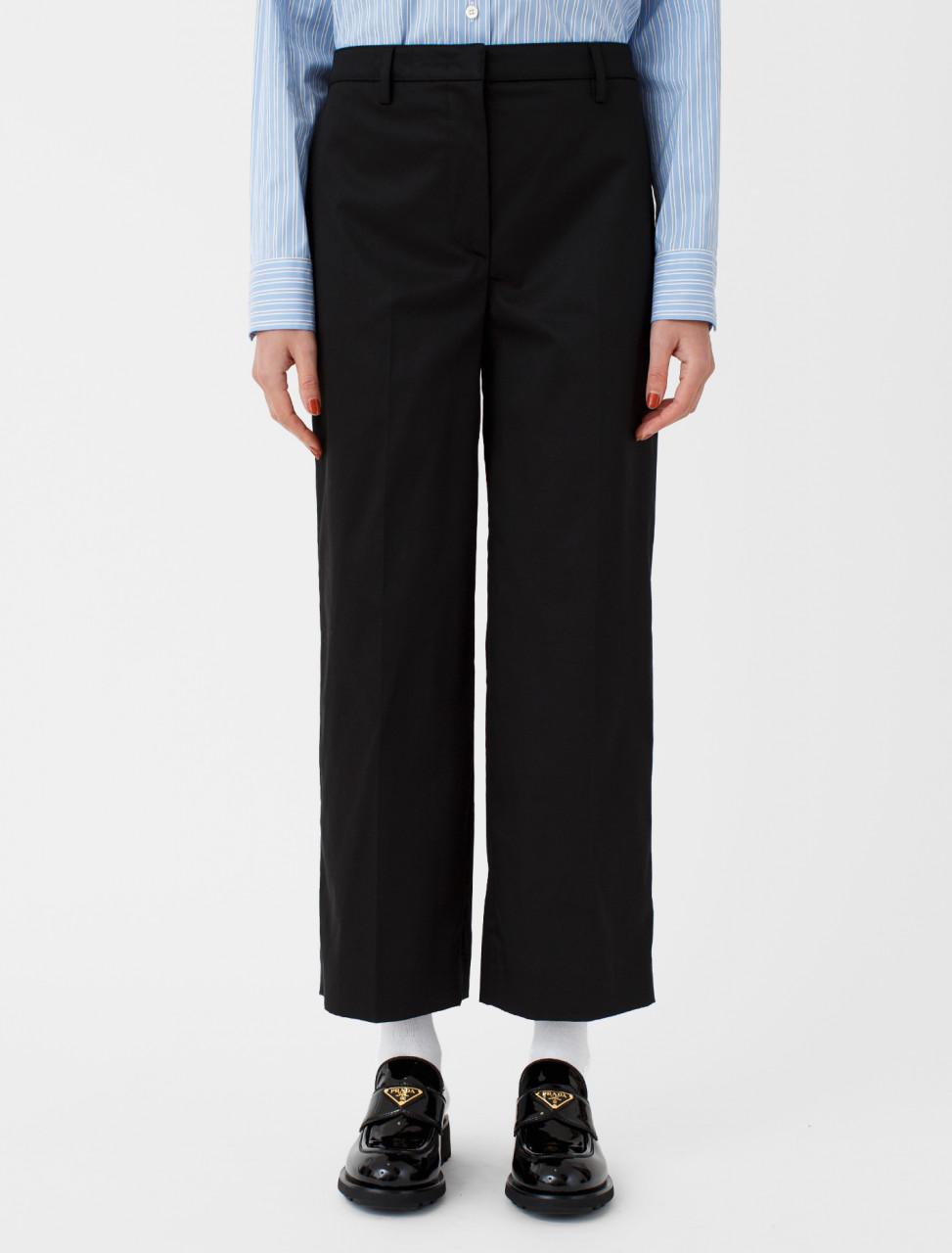 Sateen Trouser in Black