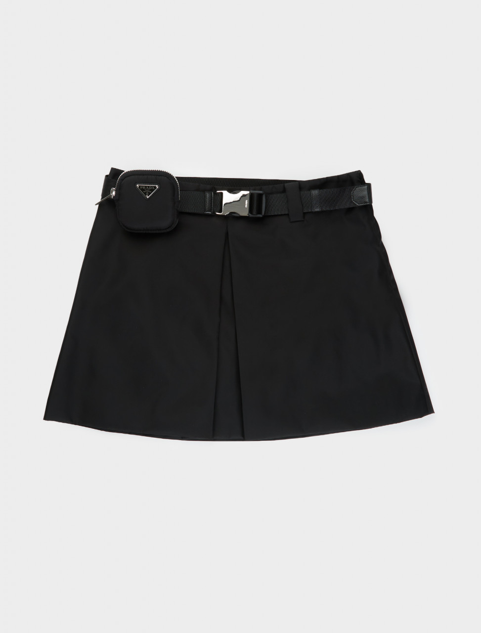21H856-1WQ8-F0002 PRADA Re-Nylon Skirt in Black