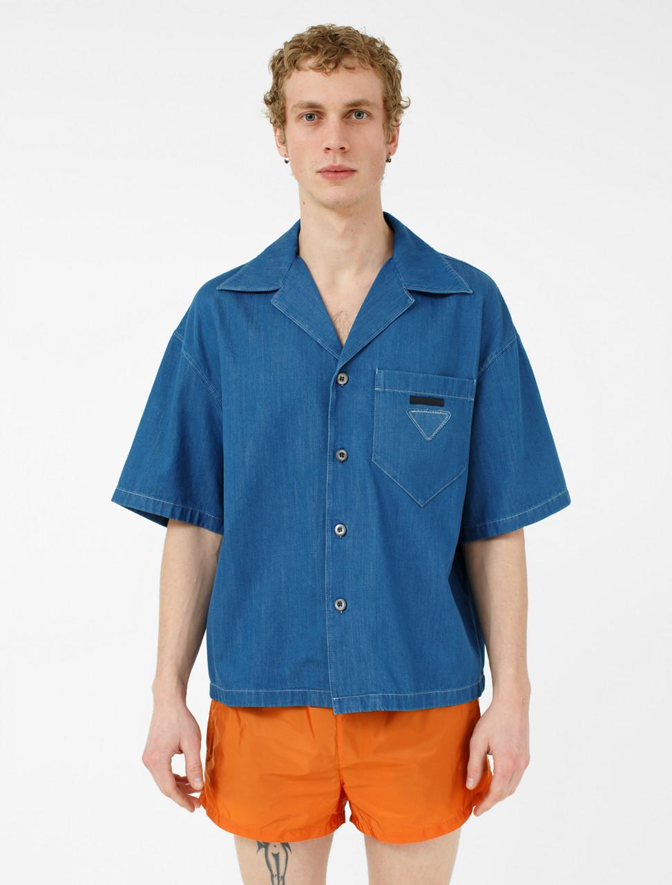 Denim Shirt in Faded Blue