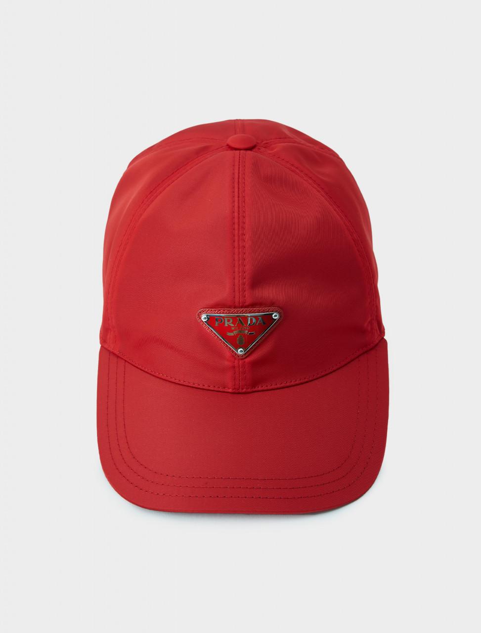Prada Nylon Baseball Cap in Red