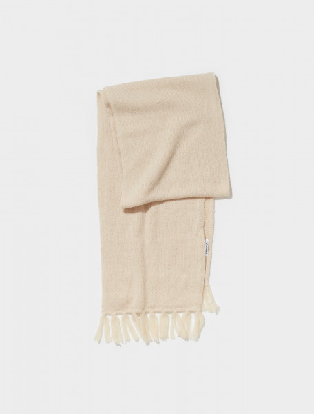 A4218KCA OUR LEGACY FUZZY ALPACA KNITTED SCARF IN CAMEL