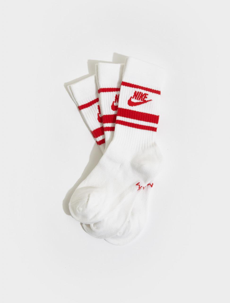CQ0301-102 NIKE LOGO RED SOCKS WHITE