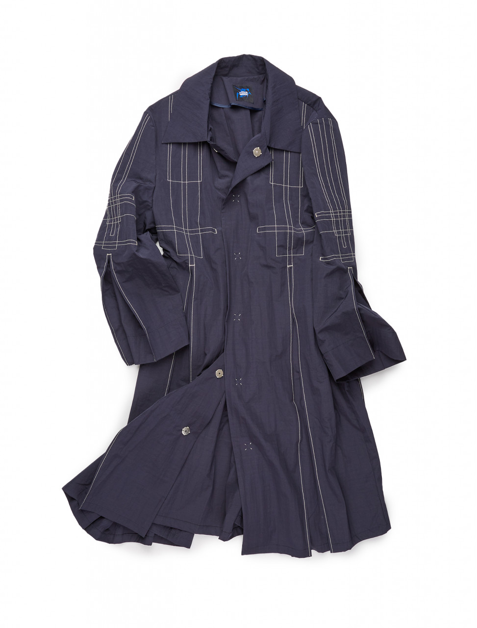 351-PLEASEN THE STOLEN GARMENT COAT NAVY