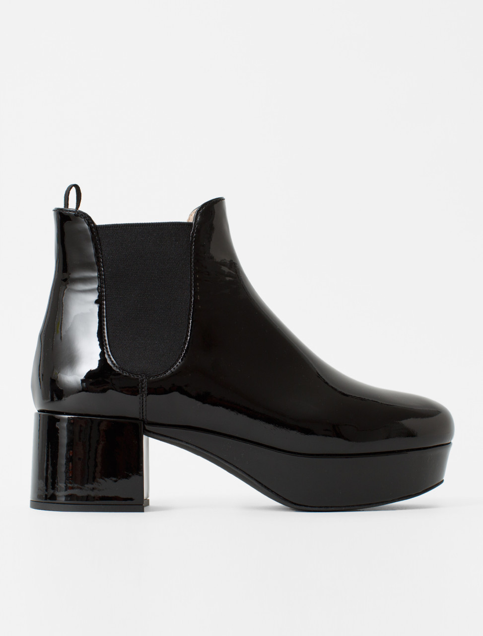 Patent Leather Boot in Black