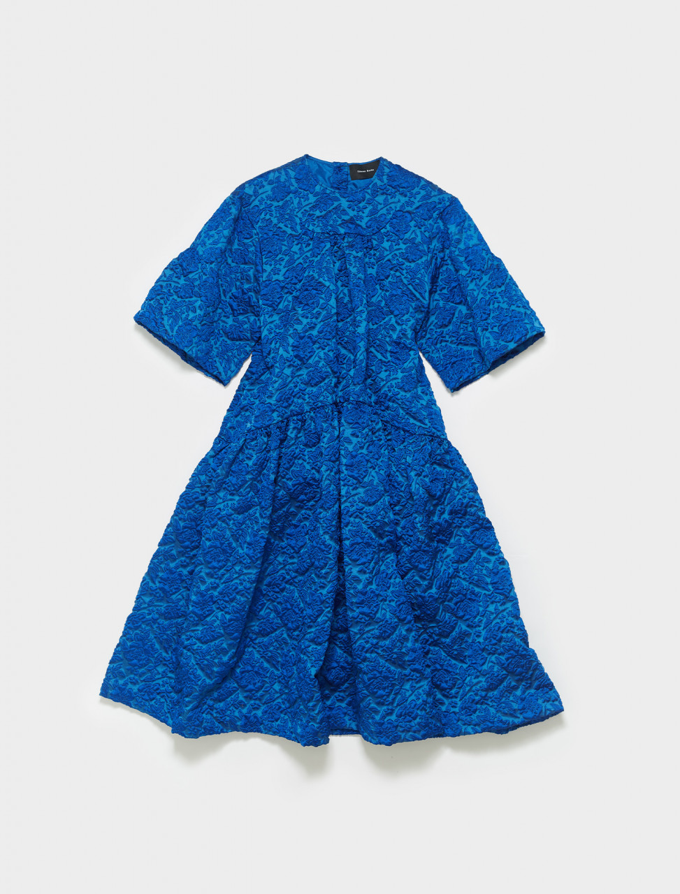 290-7007-0385 SIMONE ROCHA LONG GATHERED DRESS BLUE