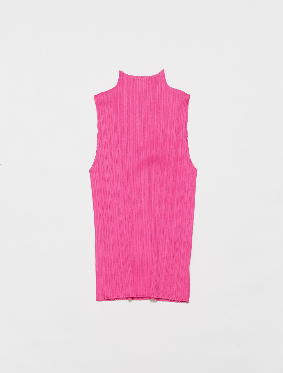 PP16JK902-22 PLEATS PLEASE ISSEY MIYAKE HIGH NECK SLEEVELESS TOP PINK