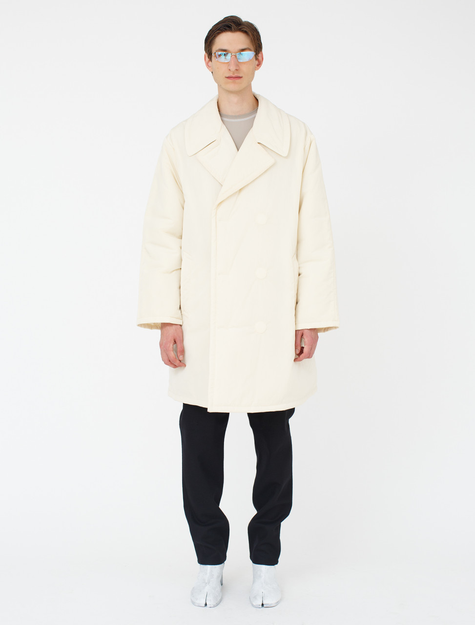 Padded Nylon Trench Coat