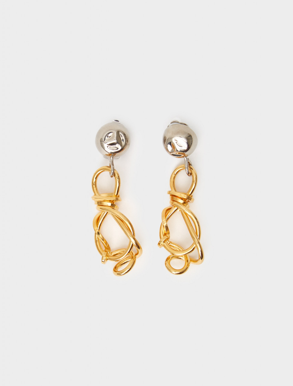 137-ORMV0246A0-M2000-GLNF1 MARNI TWISTED WIRE EARRINGS