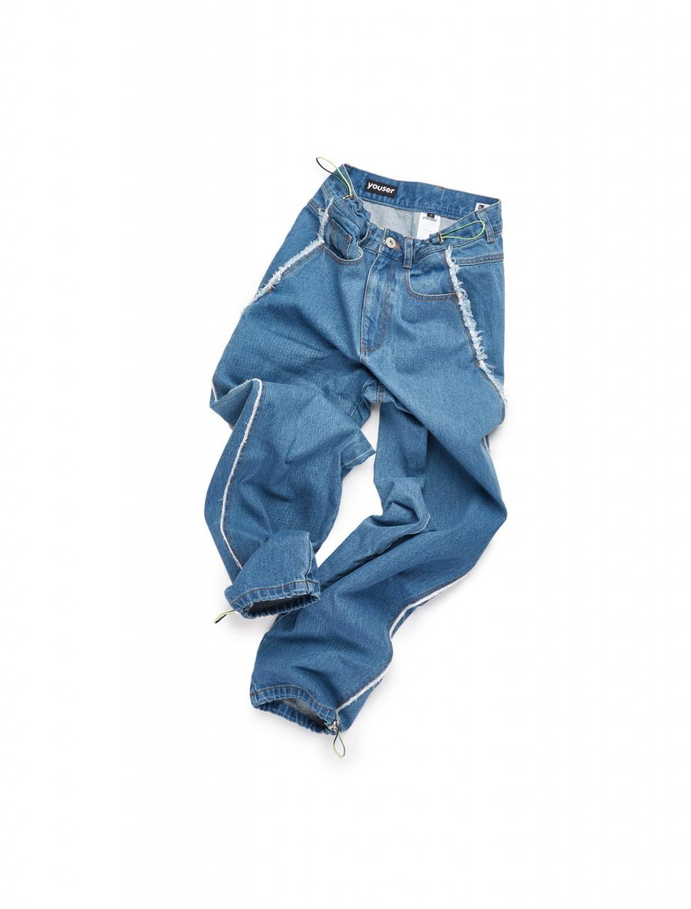 351-YS20FWPT010 YOUSER STRAP JEAN BLUE