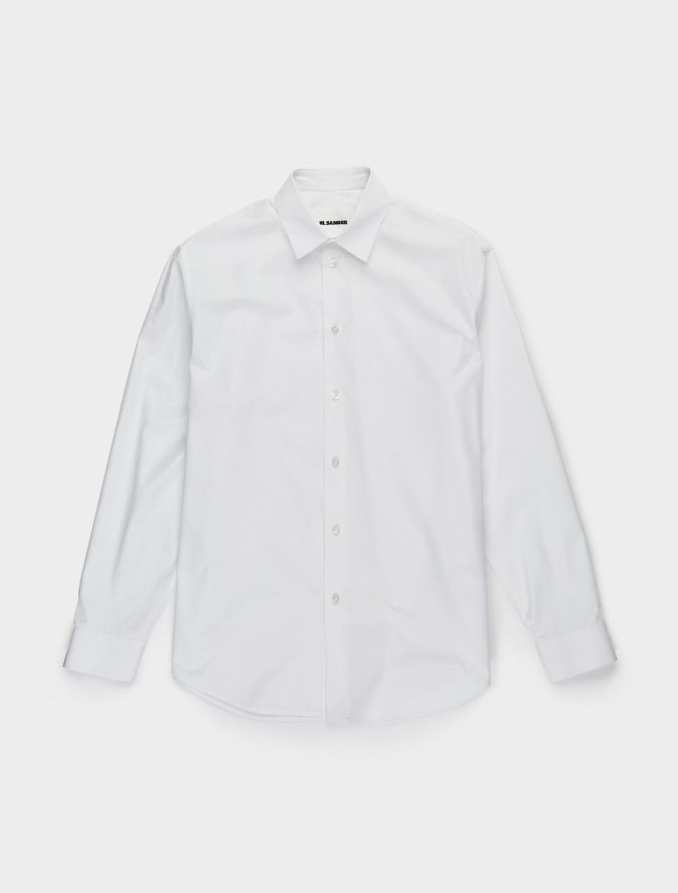 130-JSIR740226-MR244300-100 JIL SANDER ESSENTIAL SHIRT WHITE FRONT